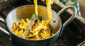 Aji de Gallina med Spaguetis