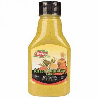Gul Chili Sauce med Sort Mynt (Huacatay) 370g