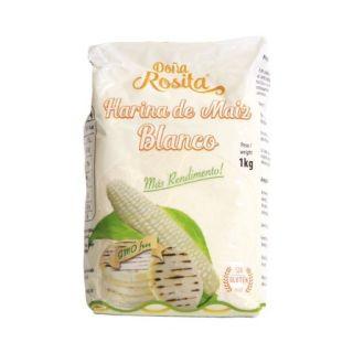 "Forkogt Hvid Majsmel ""Doña Rosita"" 1kg - GMO Free"