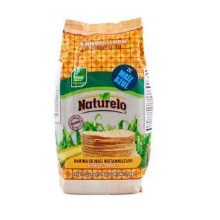 "Nixtamaliseret Blå Majs Mel ""Naturelo"" 1kg - GMO Fri"