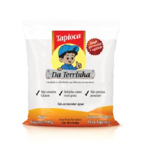 """Goma Pronta para Tapioca """"Da Terrinha"""" 500g"""